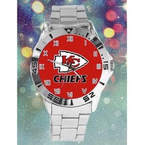 Other - Kansas City Chiefs Stainless Steel Dress Watch NWT